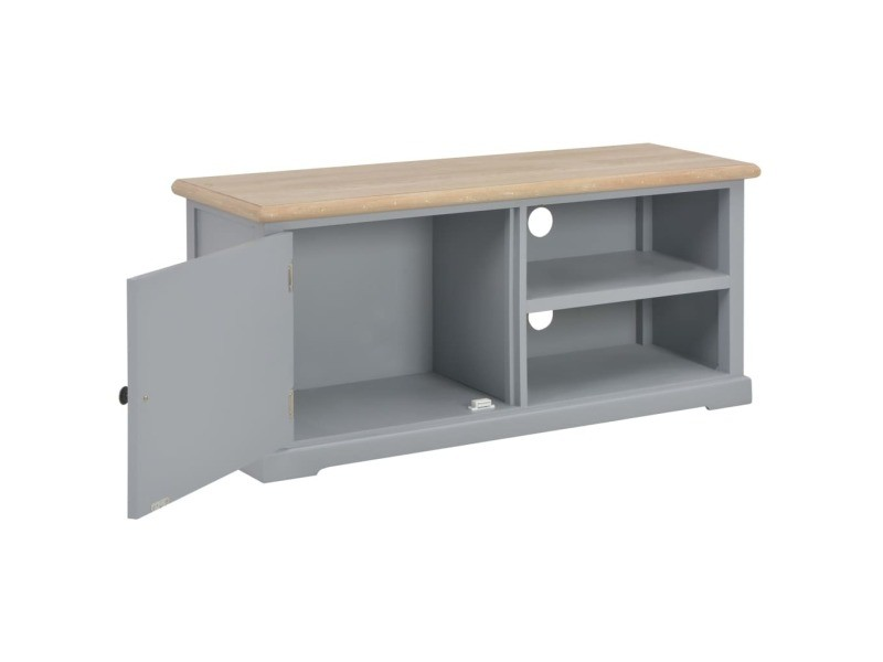 icaverne meubles tv ensemble meuble tv gris 90 x 30 x 40 cm bois