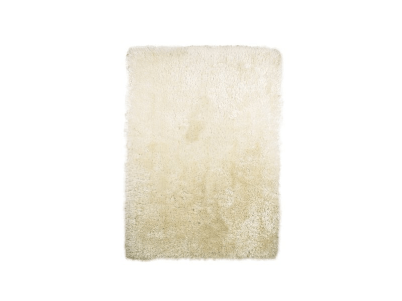 tapis shaggy epais en polyester pearl blanc 120 x 170 cm