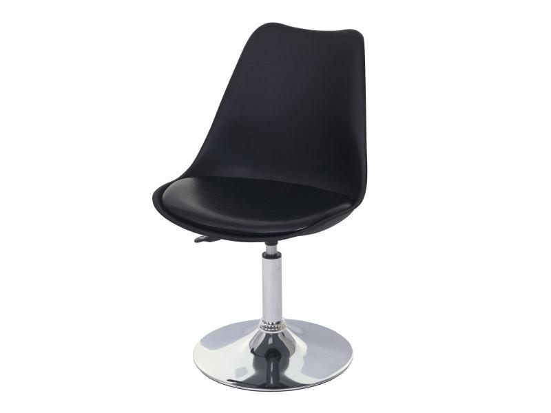 2x chaise pivotante malmo t501 hauteur reglable similicuir noir