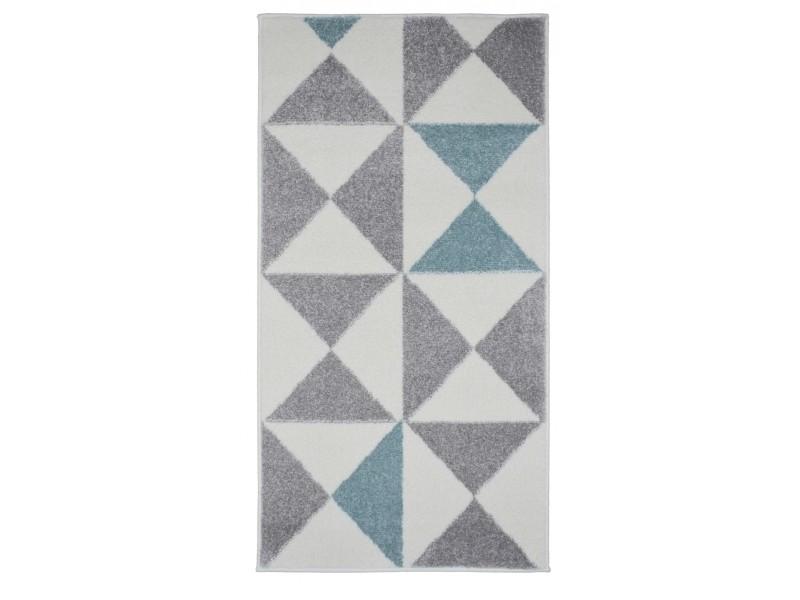 tapis de salon scandinave forsa bleu pastel 80x150cm