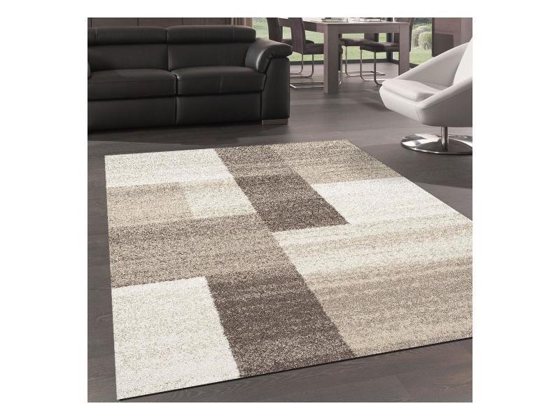 tapis design et moderne 200x290 cm rectangulaire culham beige salle a manger adapte au chauffage par le sol