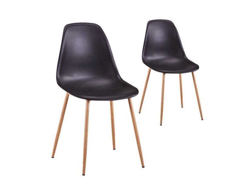 lot de 2 chaises scandinaves eva coque