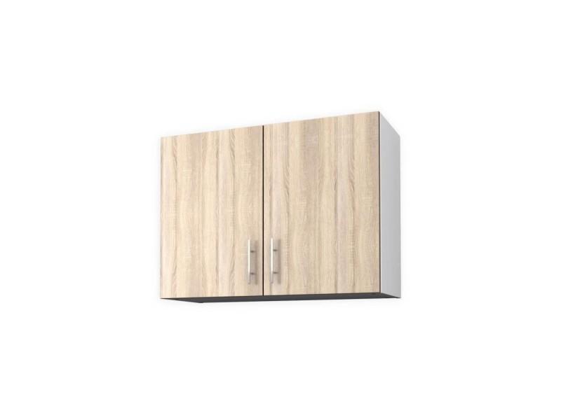 obi meuble haut de cuisine l 80 cm decor chene clair