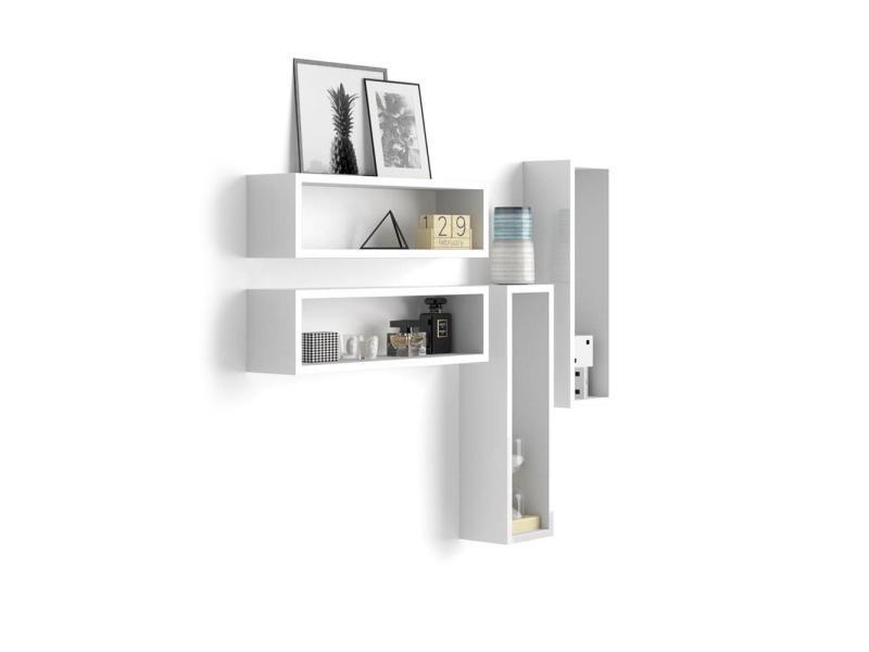 etagere murale blanc laque