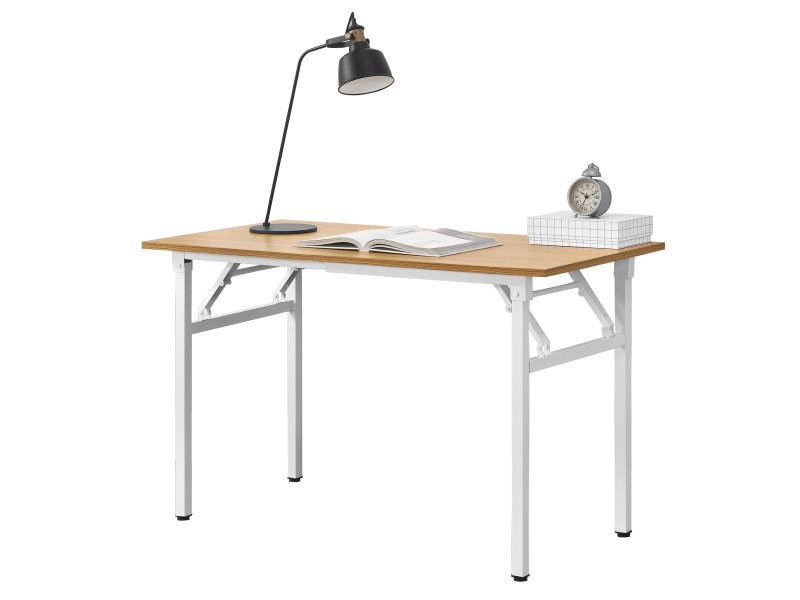 neu haus table pliante table cuisine hauteur reglable pour 4 personnes 120 x 60 x 75 76 4cm hetre et blanc
