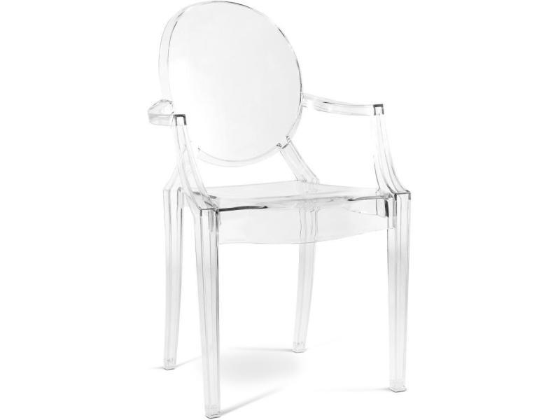 chaises louis transparent