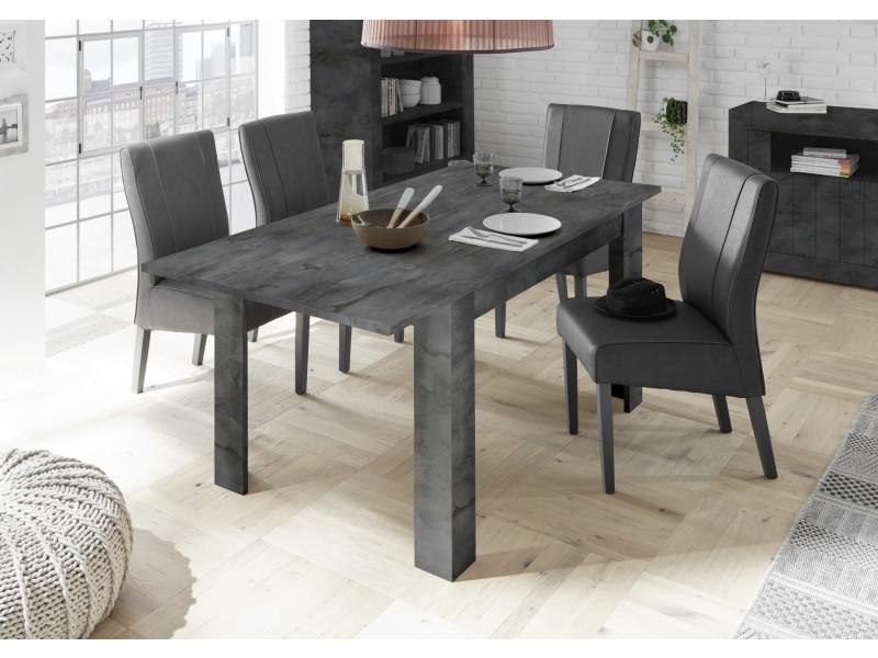 subleem table extensible 137 cm 6 8 personnes rallonge incluse bronte oxyde