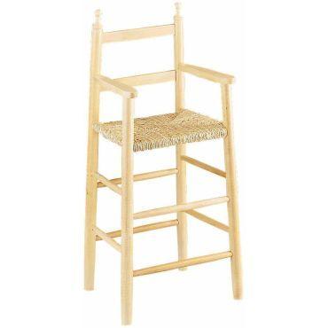 chaise haute pour enfant en hetre