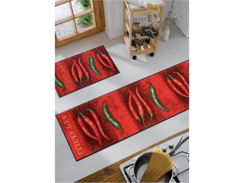 tapis pour couloir hotilli kt rouge 60 x 180 cm tapis de salon moderne design par unamourdetapis