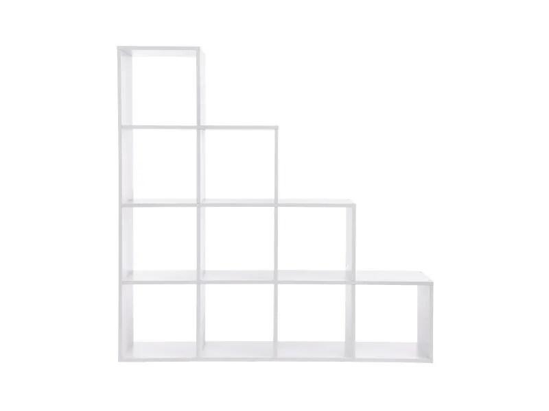 etagere escalier blanc