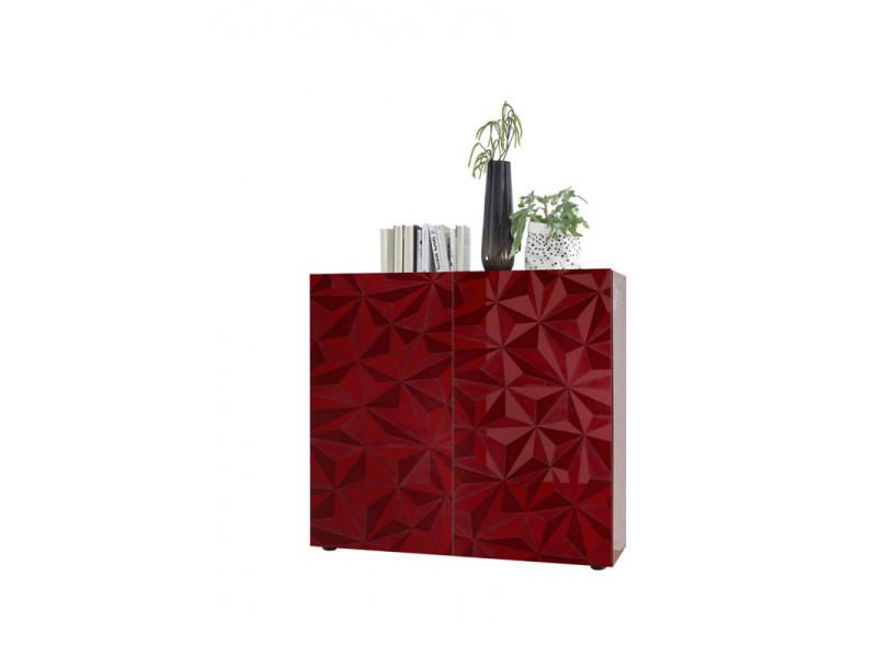 rouge vaisselier argentier design laque