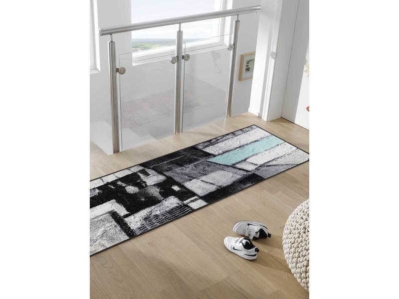 tapis pour couloir lebenswege tx gris 60 x 180 cm tapis de salon moderne design par kleen tex