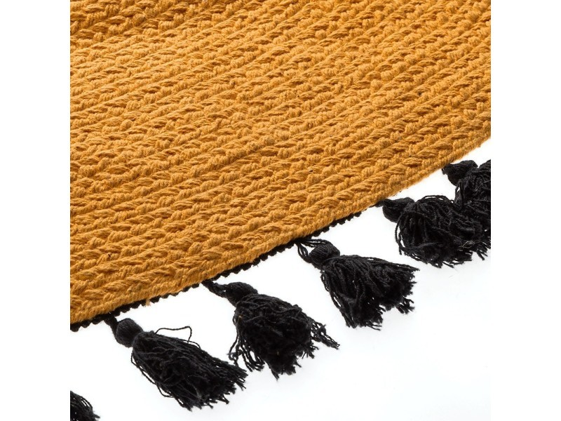 tapis rond pop ocre 120 cm