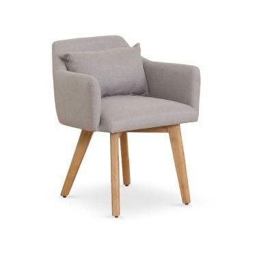 fauteuil scandinave gybson tissu beige