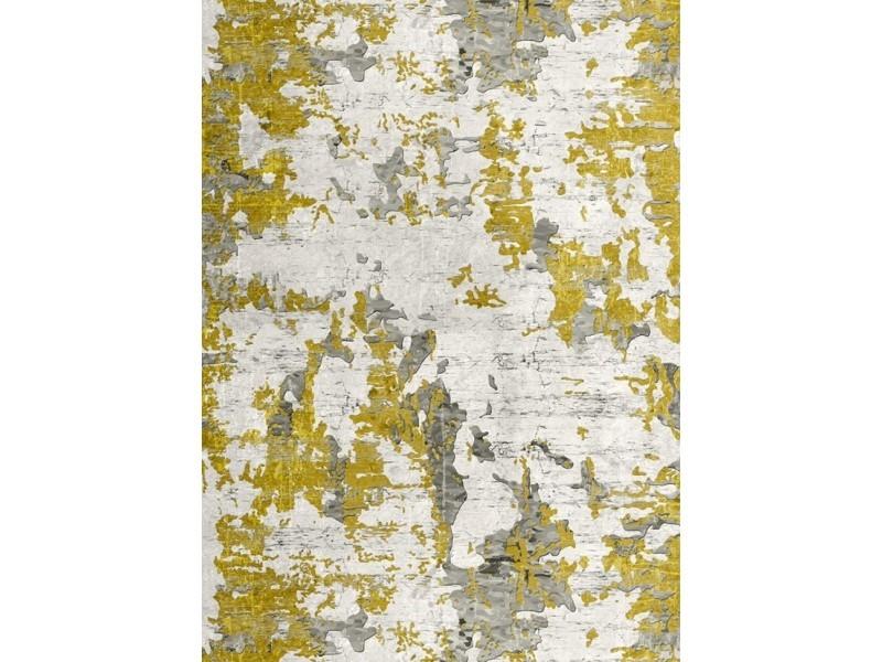 tapis moderne jaune 80x150cm