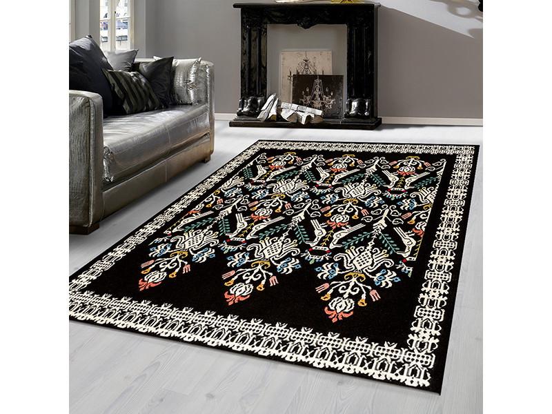tapis berbere islemeli noir 200x290cm