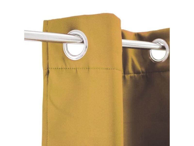 rideau double rideaux rideau thermique strong 140 x 250 cm jaune