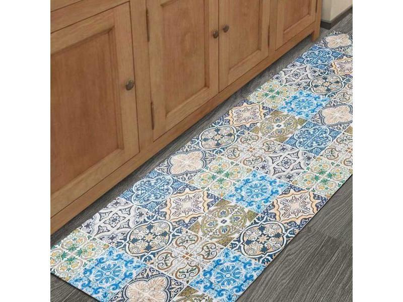 un amour de tapis vinyle bilbao 150x200 cm tapis cuisine tapis de cuisine cuisine tapis de cuisine rectangulaire tapis de cuisine bleu