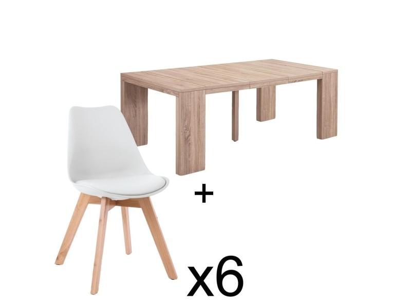 table chene blanc