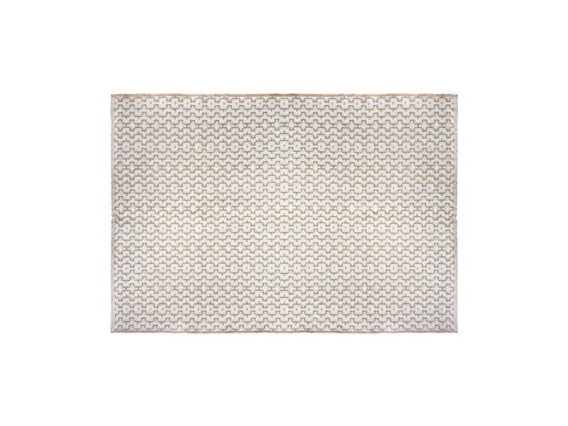 tapis jute 120x170 coton blanc