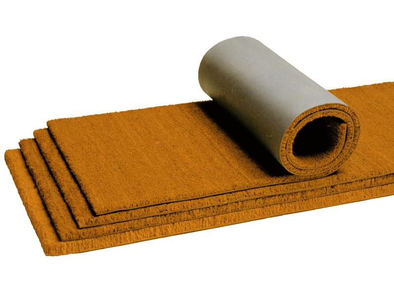 tapis paillasson en rouleau brosse coco coloris whisky dim 2m x 12 5m pegane