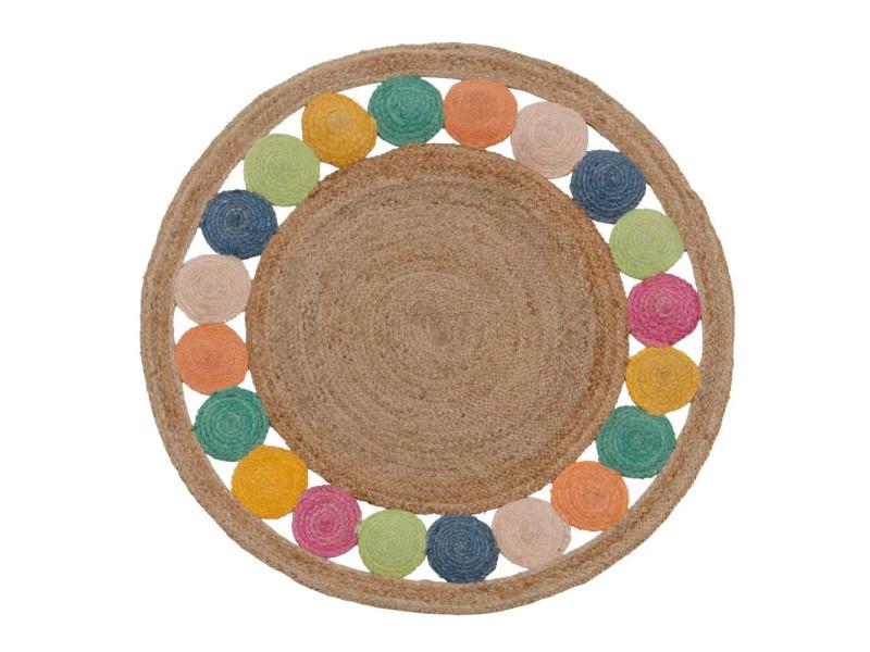 https www conforama fr decoration textile tapis tapis salon et chambre 22tapis rond rond multicolore diam 120cm spot 22 p h35431607