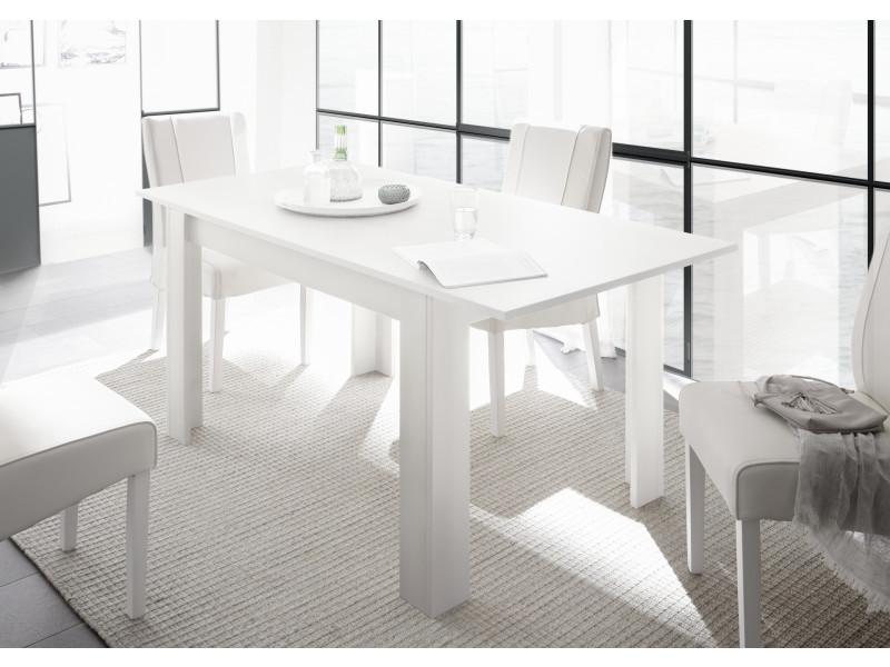 subleem table extensible 137 cm 6 8 personnes rallonge incluse monno blanc mat laque