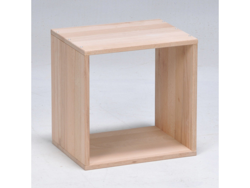 etagere cube en bois hetre massif personnalisable 1 niche nolan