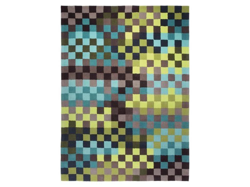 Tapis Chambre Pixel Bleu 70 X 140 Cm Tapis De Salon