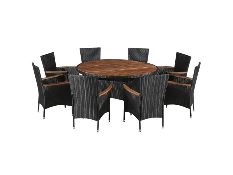 moderne meubles de jardin categorie sofia mobilier d exterieur 17 pcs resine tressee et bois d acacia