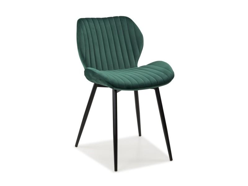 lot de 2 camila chaise tissu vert f454