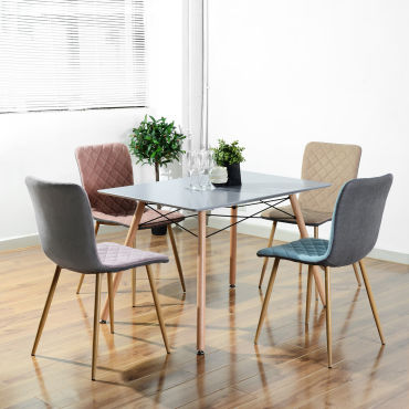 table a manger scandinave grise bois