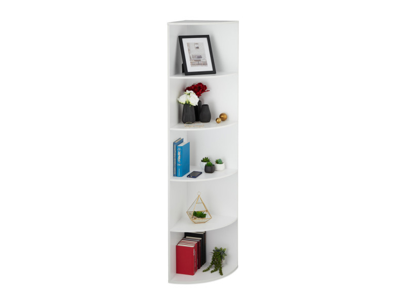 etagere d angle blanche 180 cm