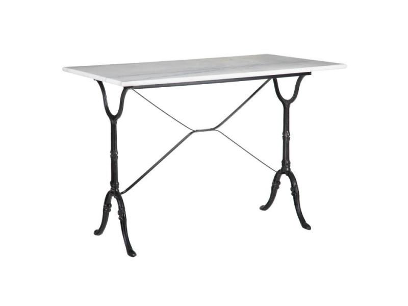 table de repas rectangulaire metal noir
