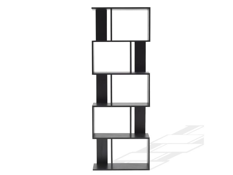mobili rebecca bibliotheque etageres bois noir design moderne 172 5x60x24