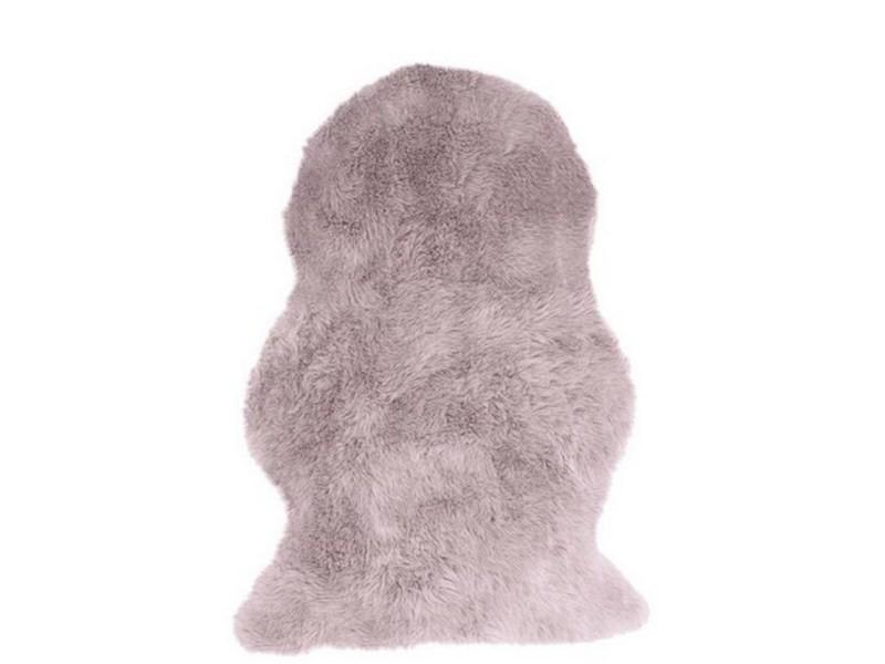 descente de lit effet peau de mouton fur 140x200 cm