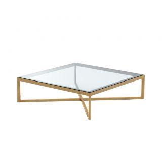 krusin coffee table oak glass top