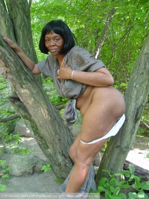 granny and mature outdoors