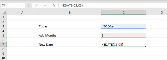 Excel Add Months to Date - Step-by-Step Guide, Screenshots, Example