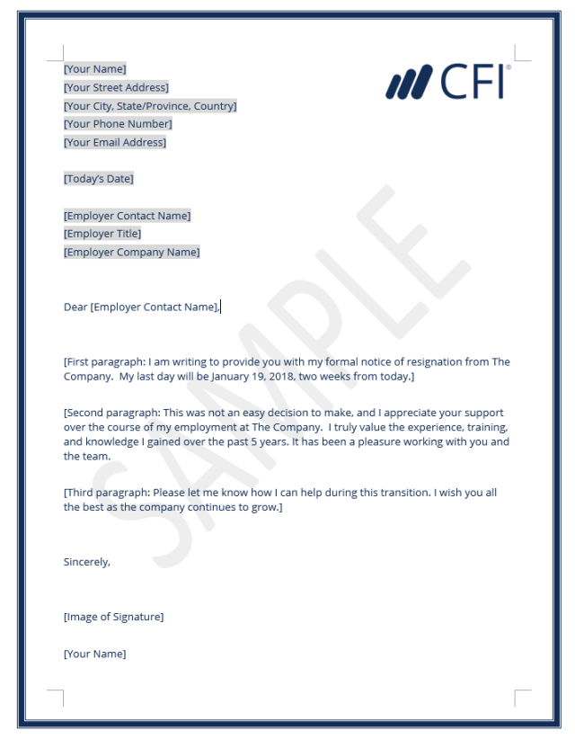Resignation Letter How To Write A