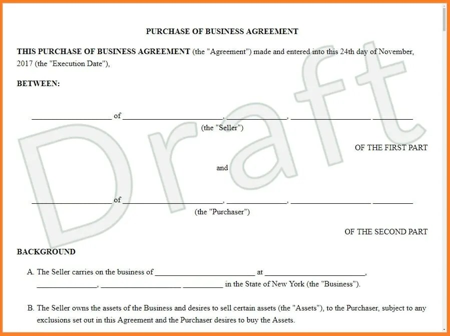 The stock purchase agreements are the contract to transfer ownership of stocks from the seller to the purchaser. Sale And Purchase Agreement Features Provisions Examples