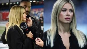 "Diletta Leotta ""total black"" for Napoli-Genoa"