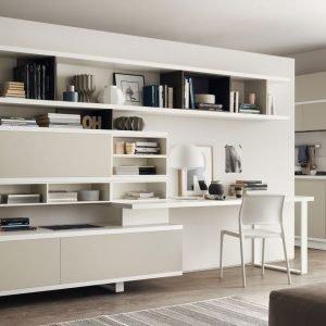 Visualizza altre idee su scrivania, scrivania libreria, libreria. Angolo Studio In Soggiorno Integrato Nella Libreria O In Un Mobile Trasformabile Cose Di Casa
