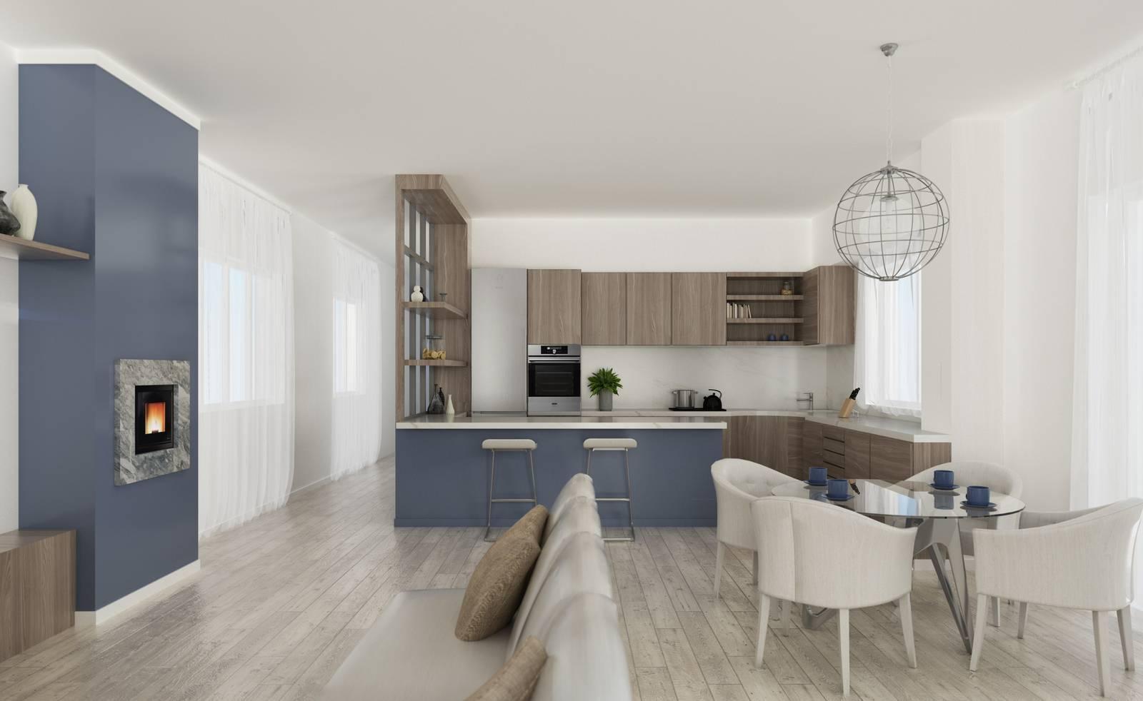 L'ambiente open space che comprende salotto e cucina è una soluzione contemporanea e. Via Il Corridoio Cucina E Soggiorno Diventano Un Grande Open Space Cose Di Casa