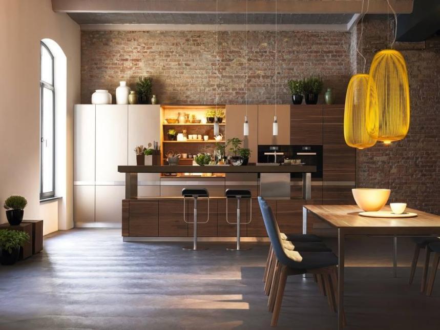cucina K7 Team7, piano agglomerato di quarzo, colori neutri