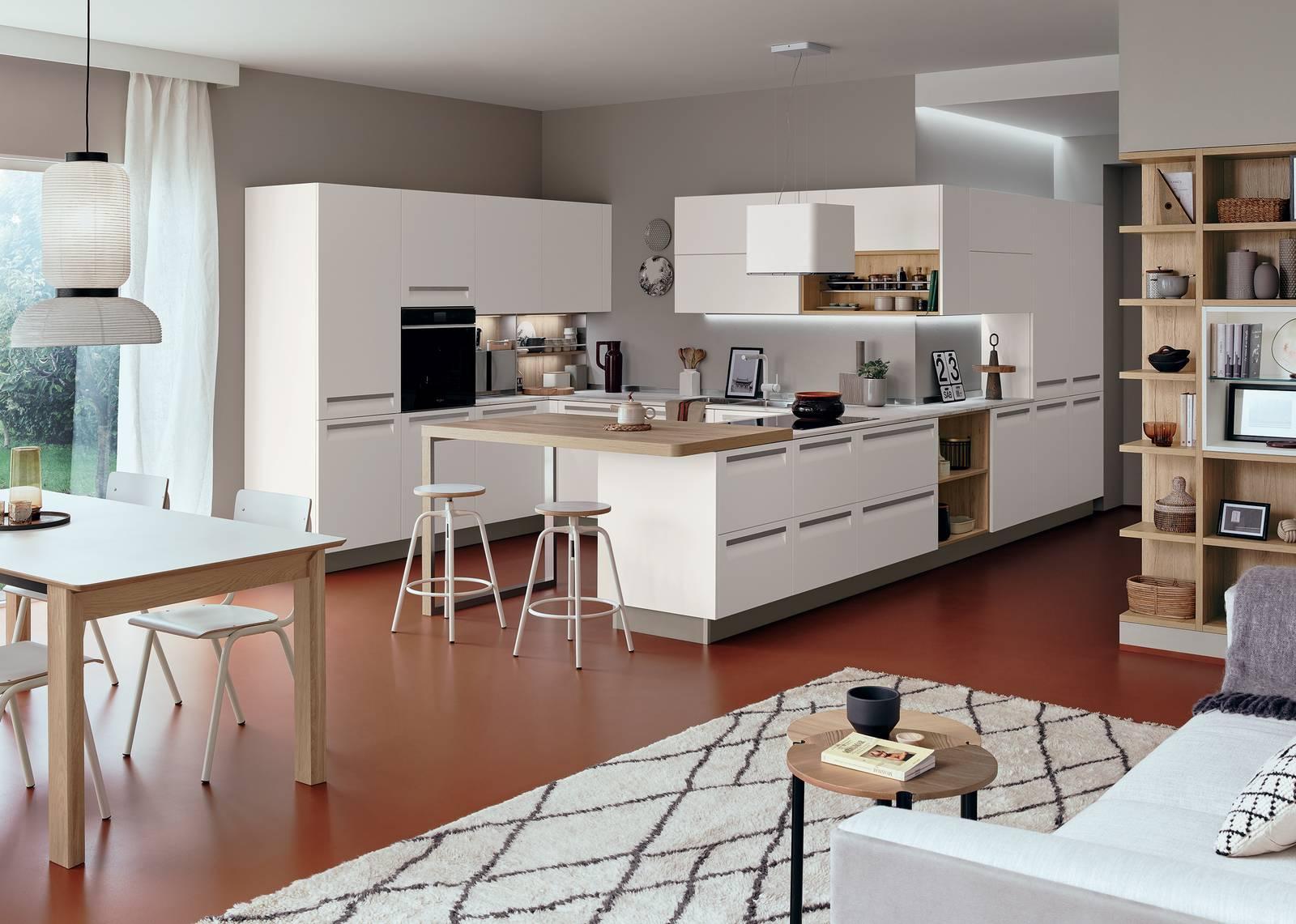 Come si progetta un open space? Progettare La Cucina Angoli Ben Risolti Nell Open Space Cose Di Casa
