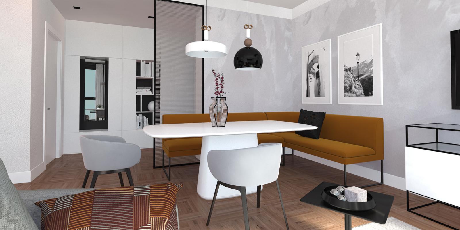 Dare l'idea di un unico, grande ambiente aiuta a ridurre la quantità di mobili necessari e fa sembrare la casa più spaziosa e vivibile. Arredare Il Soggiorno Cucina Aperto Sull Ingresso 3 Ambienti In 1 Cose Di Casa