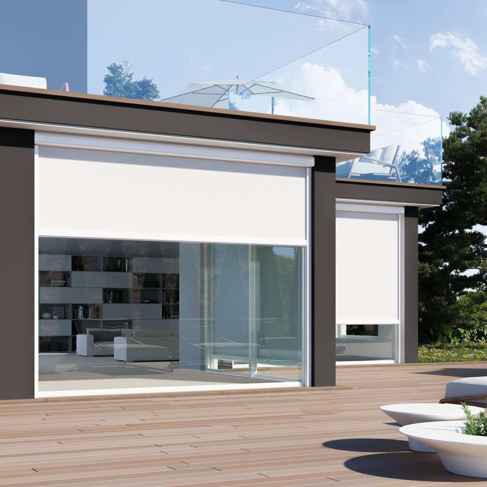 Opportunamente posizionate all'esterno, contribuiscono a diminuire la percentuale di calore solare trasmesso dai vetri, consentendo un considerevole risparmio energetico grazie alla. Tende A Rullo Mottura Soluzioni Outdoor D Eccellenza Cose Di Casa