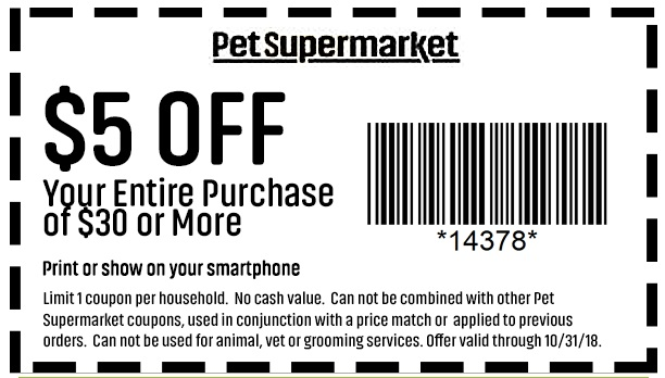 graphic regarding Pet Supermarket Printable Coupon named Dog Grocery store Printable Coupon