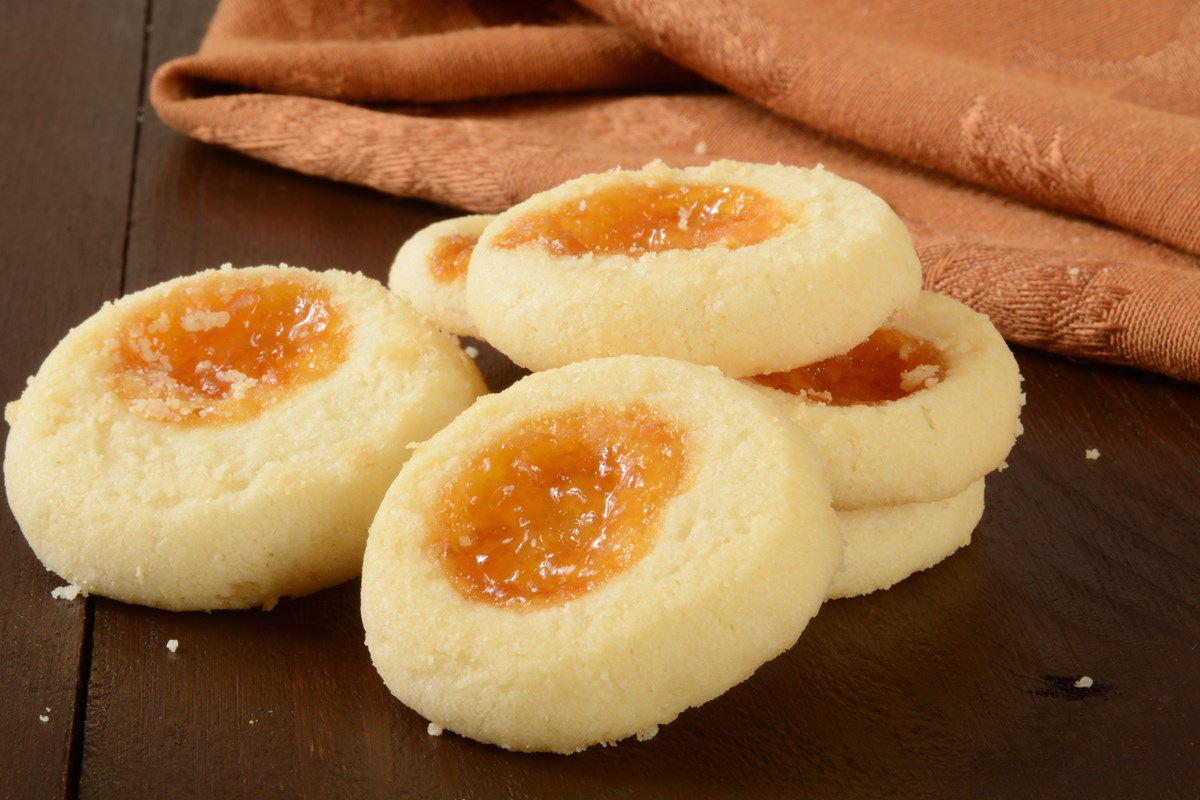 Apricot Cream Cheese Thumbprint Cookies KitchMe